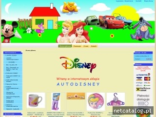 Zrzut ekranu strony www.autodisney.pl