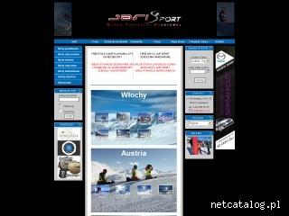 Zrzut ekranu strony www.jafisport.pl
