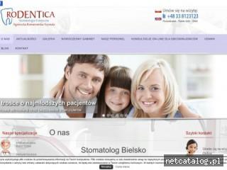 Zrzut ekranu strony rodentica.pl
