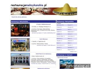 Zrzut ekranu strony www.restauracjemeksykanskie.pl