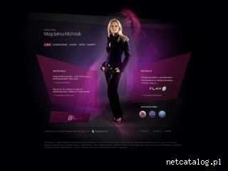 Zrzut ekranu strony www.magdamichniak.pl