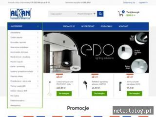 Zrzut ekranu strony alkan.pl