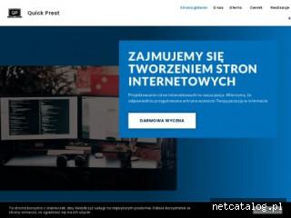 Zrzut ekranu strony quickprest.pl