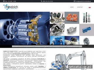 Zrzut ekranu strony www.pandzich-ersatzteile.de/pl