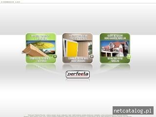 Zrzut ekranu strony www.perfecta.pl