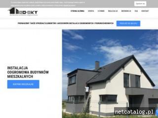 Zrzut ekranu strony izosky.pl