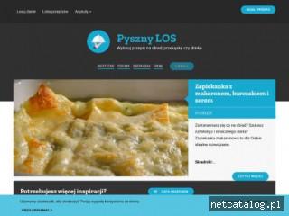 Zrzut ekranu strony pysznylos.pl
