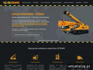 Zrzut ekranu strony www.olszta.pl