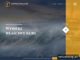 Zrzut ekranu strony www.lipinskiwalczak.pl