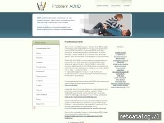 Zrzut ekranu strony www.adhdproblem.com
