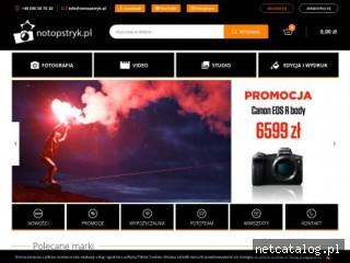 Zrzut ekranu strony notopstryk.pl