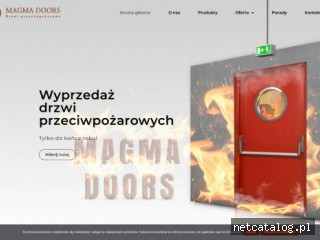 Zrzut ekranu strony magmadoors.pl