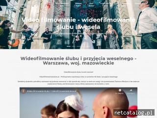 Zrzut ekranu strony wideofilmowanieslubu.pl