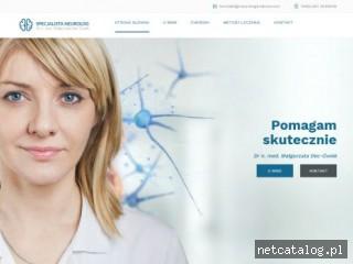 Zrzut ekranu strony www.neurologkrakow.com