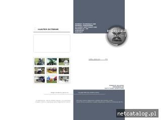 Zrzut ekranu strony www.hunter.fr.pl