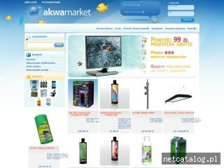 Zrzut ekranu strony www.akwamarket.pl