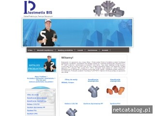 Zrzut ekranu strony www.plastmetix.pl
