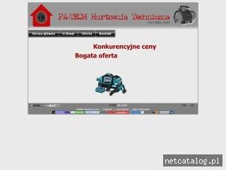 Zrzut ekranu strony www.pa-tech.com.pl