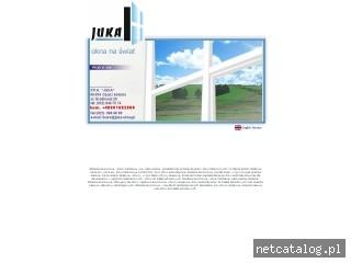 Zrzut ekranu strony www.juka-okna.pl