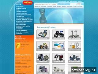 Zrzut ekranu strony www.kasyiwagi.pl