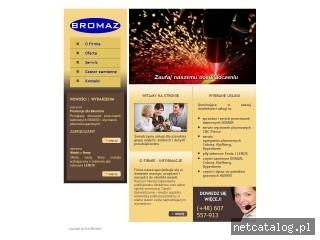 Zrzut ekranu strony www.bromaz.pl