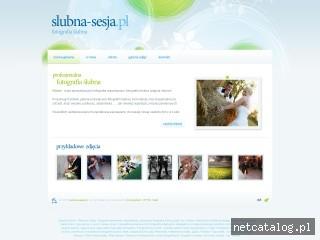 Zrzut ekranu strony www.slubna-sesja.pl