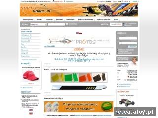 Zrzut ekranu strony www.strefahobby.pl