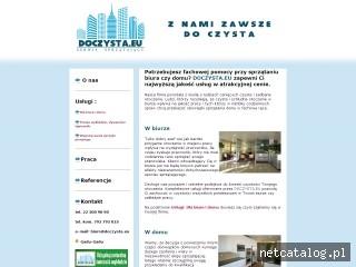 Zrzut ekranu strony www.doczysta.eu