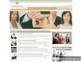 Zrzut ekranu strony www.hrexecutive.pl
