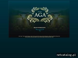Zrzut ekranu strony www.firma-aga.eu