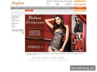 Zrzut ekranu strony www.stylea.pl