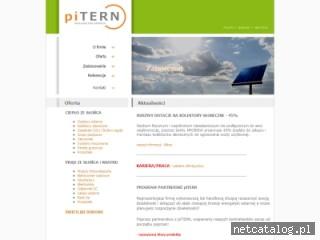 Zrzut ekranu strony www.pitern.pl