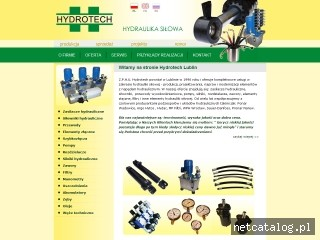 Zrzut ekranu strony www.hydrotech.lublin.pl