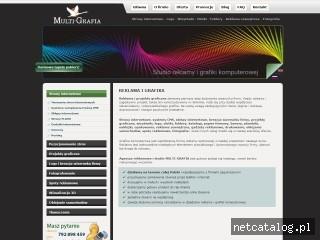 Zrzut ekranu strony www.multi-grafia.pl