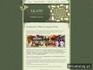 Zrzut ekranu strony www.lilato.pl