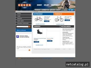 Zrzut ekranu strony www.colex-rowery.pl