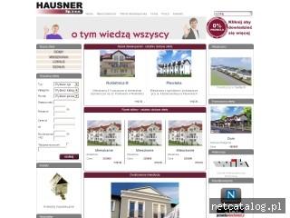 Zrzut ekranu strony www.hausner.pl