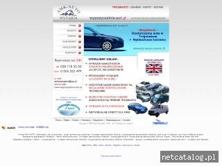 Zrzut ekranu strony www.wypozyczalnia-aut.pl