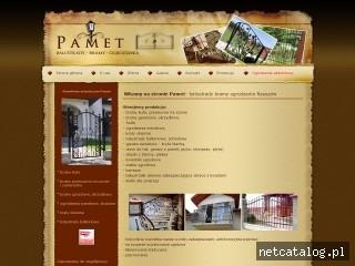 Zrzut ekranu strony www.pamet.rzeszow.pl