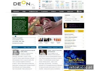 Zrzut ekranu strony www.deon.pl