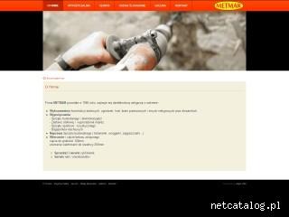 Zrzut ekranu strony www.metmar.waw.pl