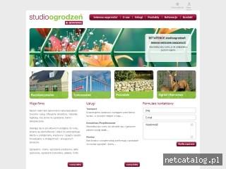 Zrzut ekranu strony www.centerfence.pl