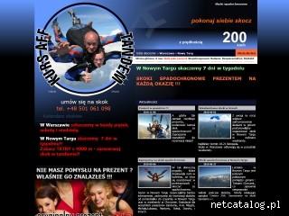 Zrzut ekranu strony www.skokiwtandemie.pl
