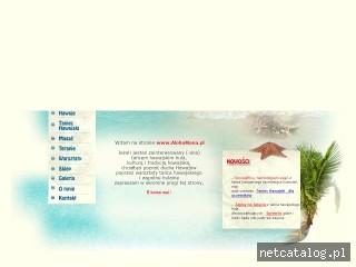 Zrzut ekranu strony www.alohamana.pl