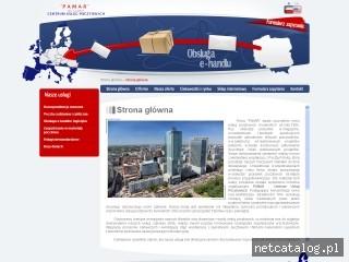 Zrzut ekranu strony www.pamarbiuro.pl