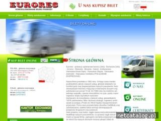 Zrzut ekranu strony www.eurores.pl