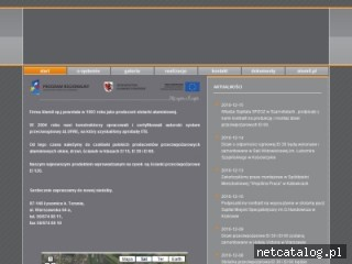 Zrzut ekranu strony www.alufire.pl