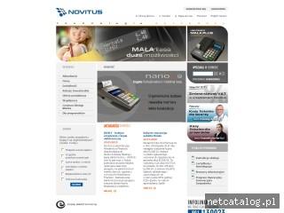 Zrzut ekranu strony www.novitus.pl