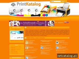 Zrzut ekranu strony www.katalog.printerek.pl