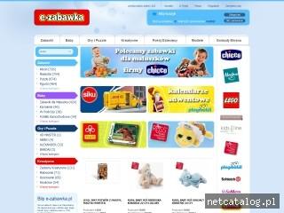 Zrzut ekranu strony e-zabawka.pl
